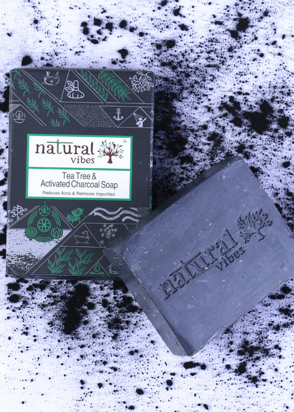 Tea Tree and Activated Charcoal Soap (150g)