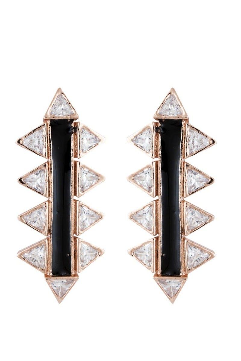 Triangle Long Stud Earrings