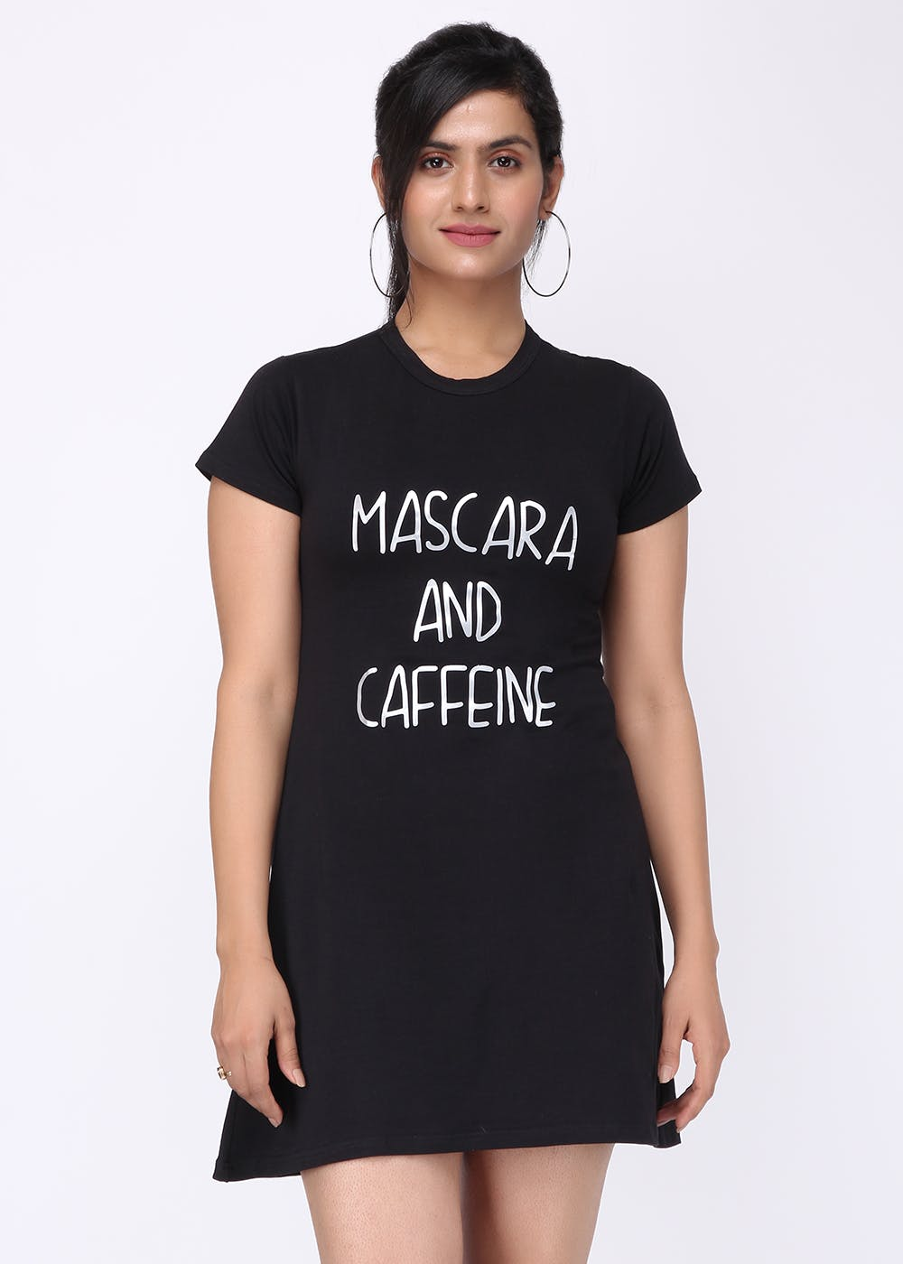 """Mascara And Caffeine"" Dress"