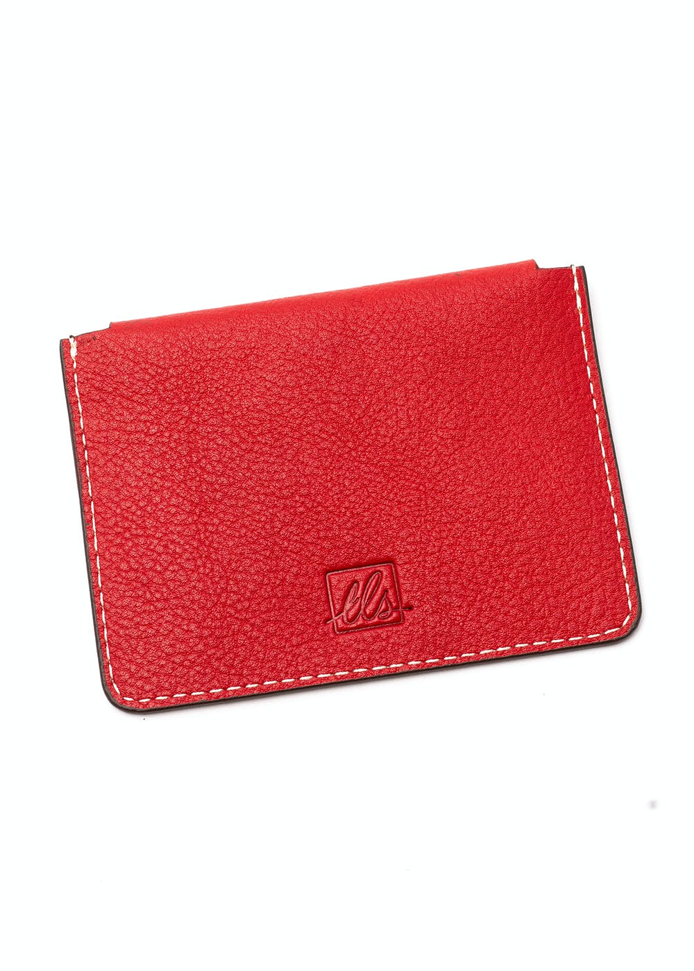 Suave Business Card Case With Flap - Red