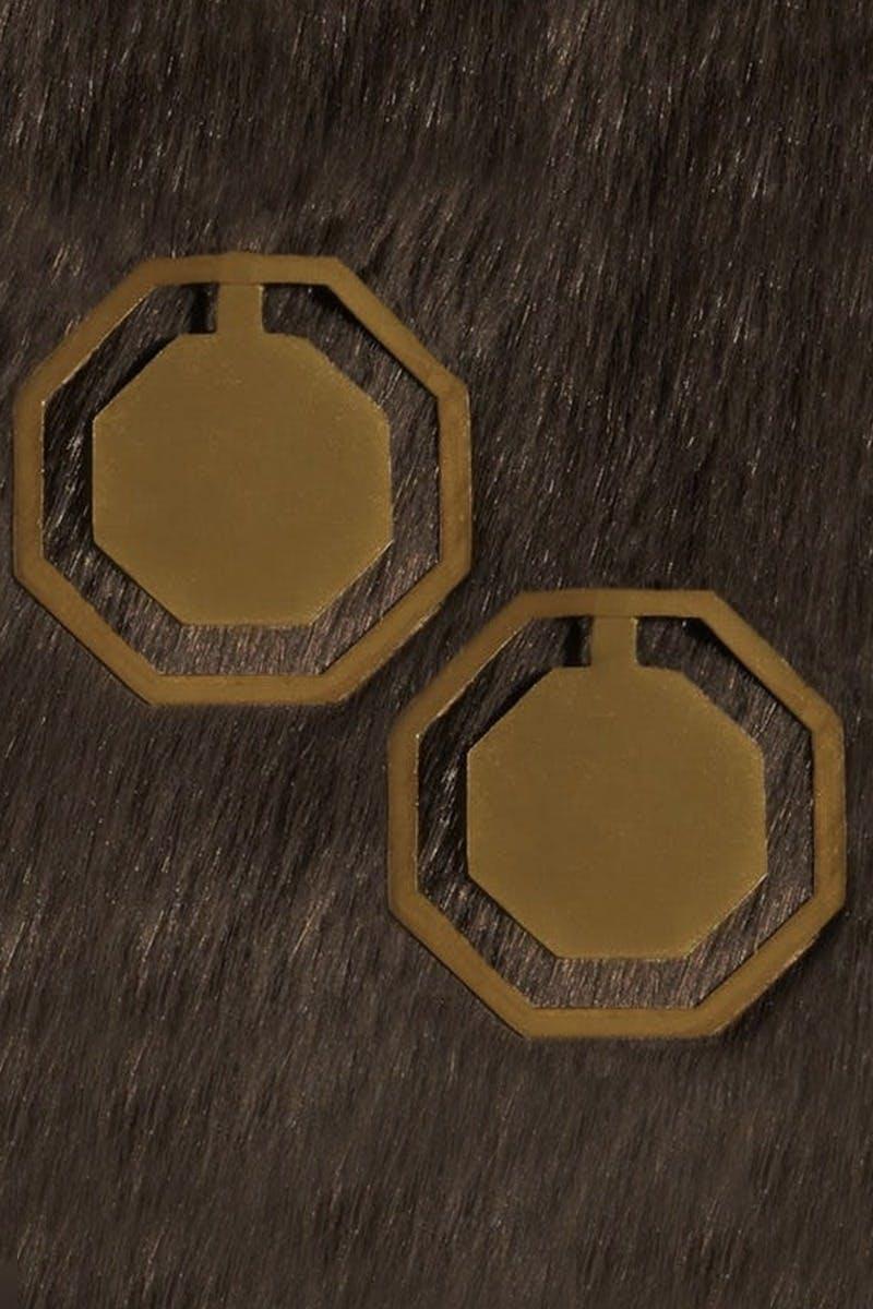 Cut-Out Octagon Earrings