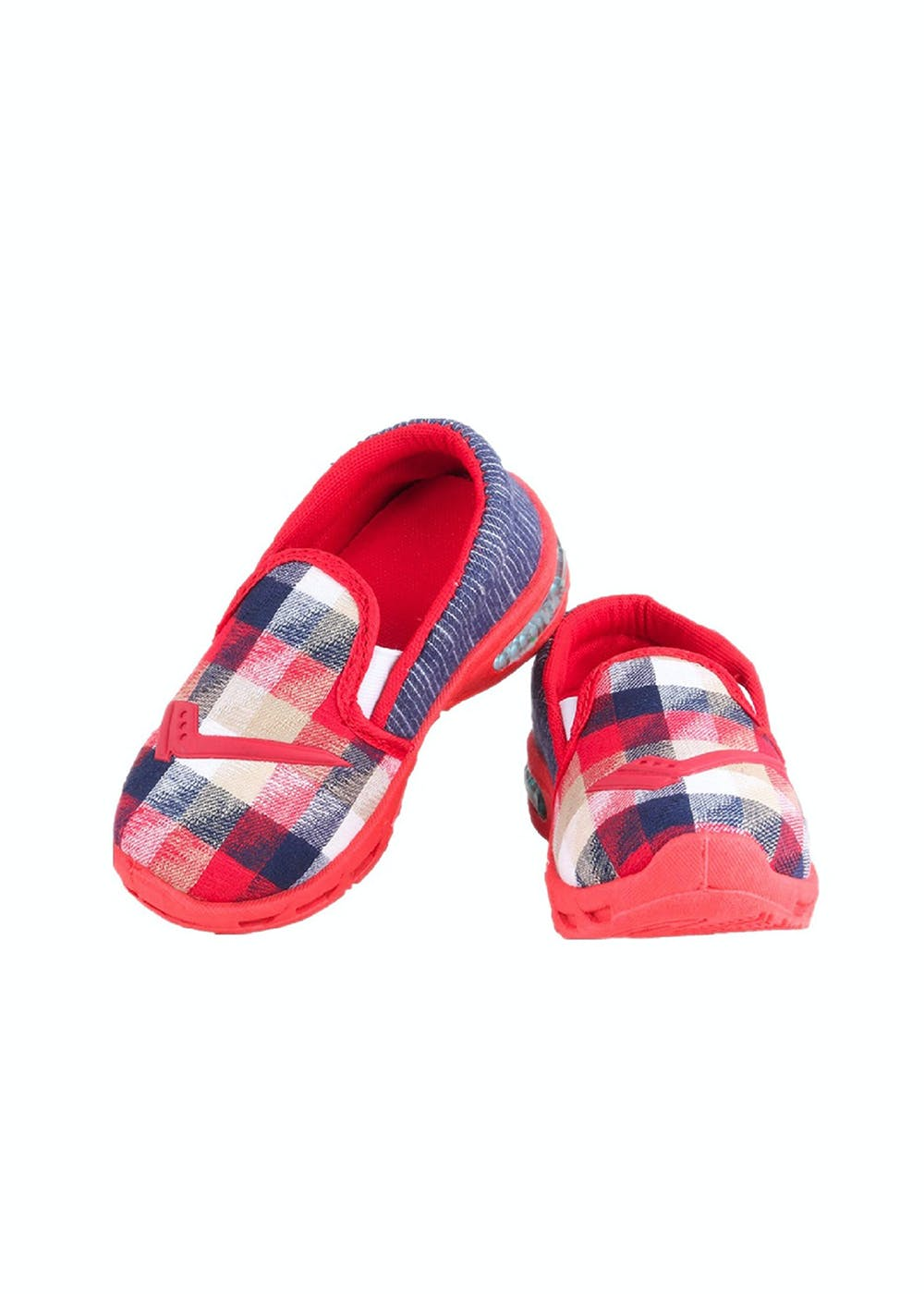 Red Slip on Casual Boots