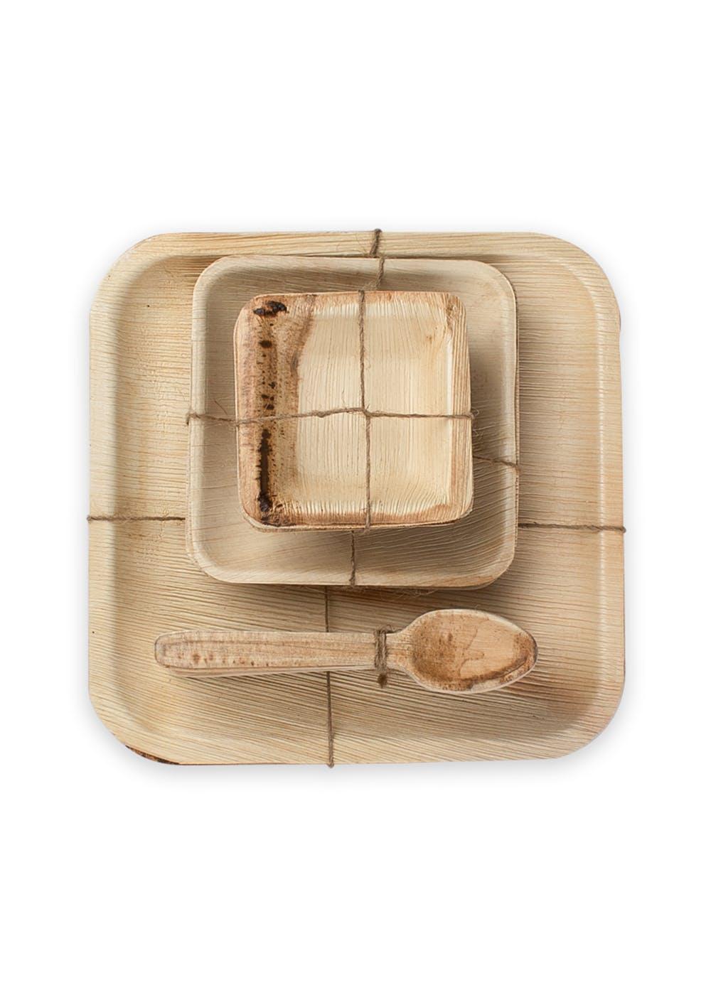 Assorted Leaf Tableware Set For 10 People