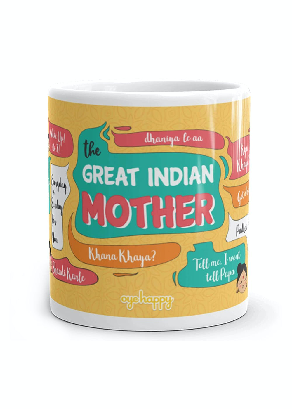 Great Indian Mother Mug with a Cute Scroll Inside