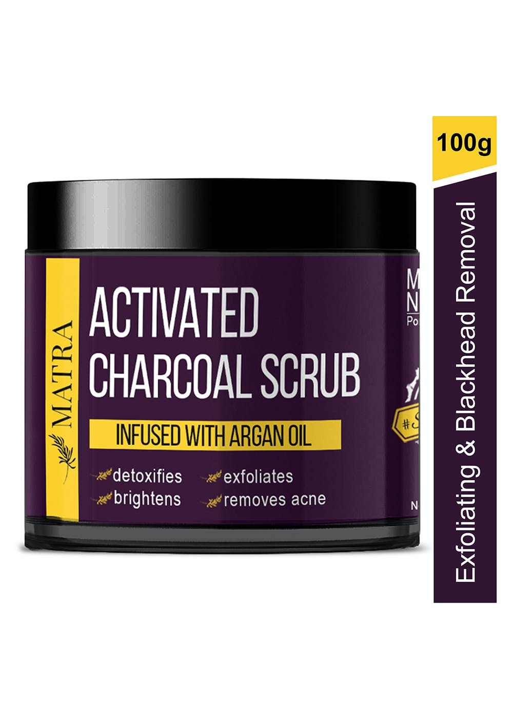 Activated Charcoal Scrub Infused With Argan Oil