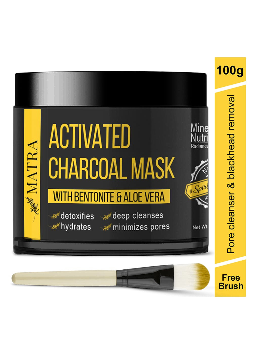 Activated Charcoal Mask With Bentonite And Aloe-Vera