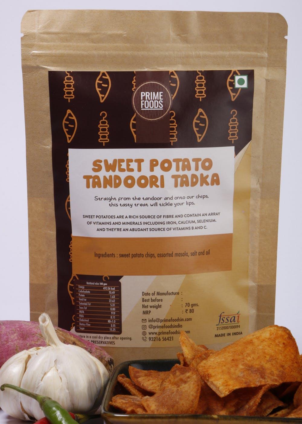 Sweet Potato Tandoori Tadka Chips- 70gm (Pack of 2)