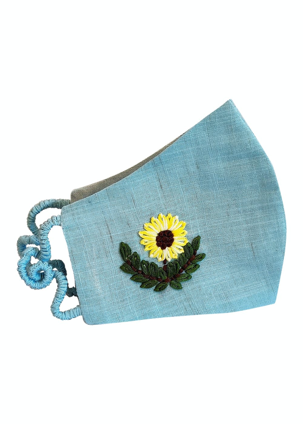 Sunflower Hand Embroidered Cotton Mask