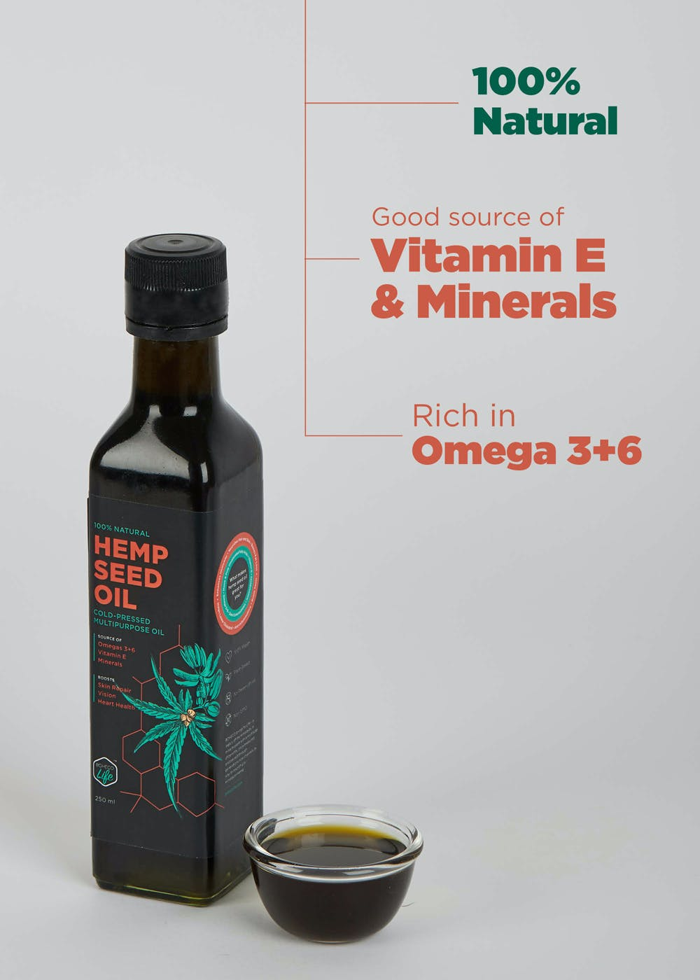 Hemp Seed Oil- 250 ml