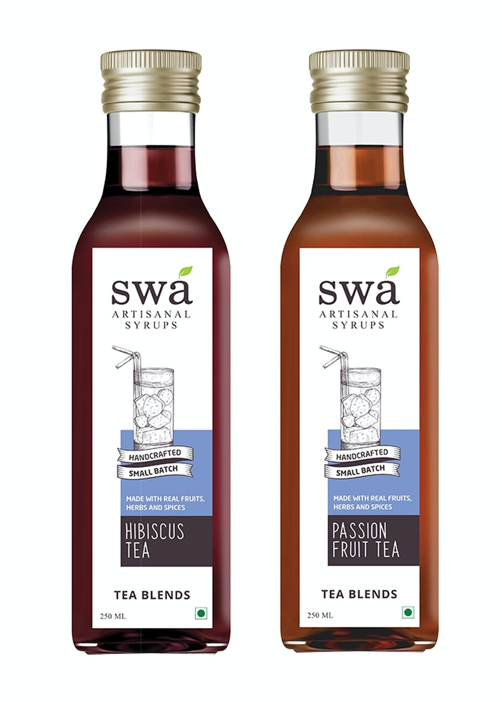 Syrup Combo Offer: Passion Fruit Tea + Hibiscus Tea- 500ml