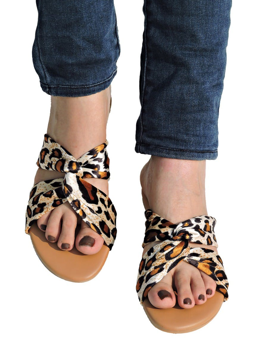 Animal Print Interwoven Flats