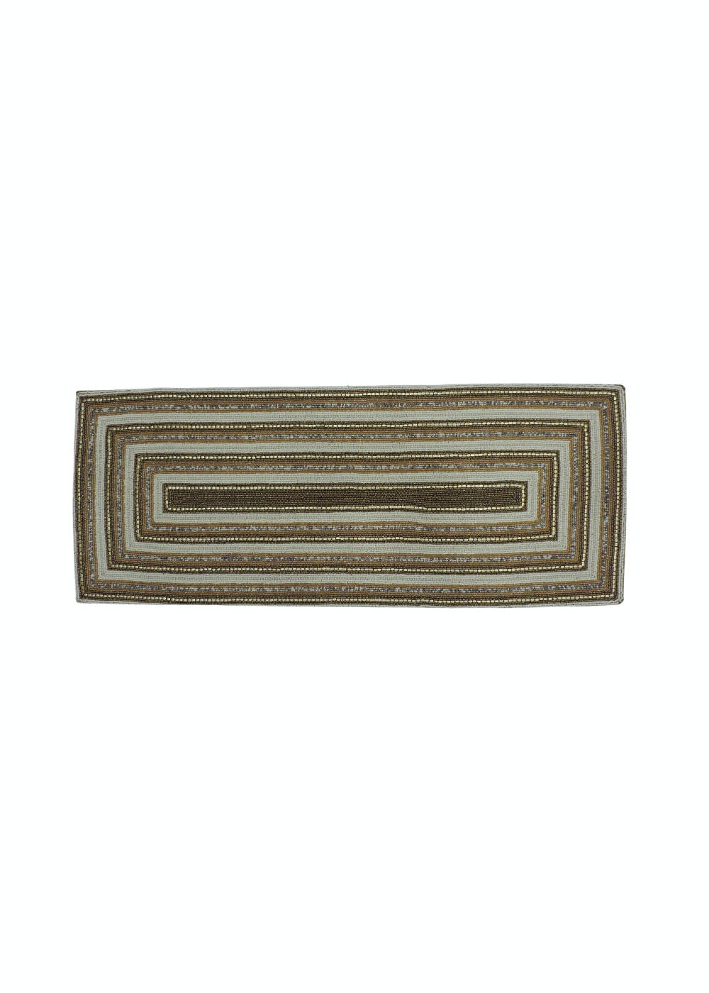 Beads Embellished Rectangle In Rectangle Table Runner