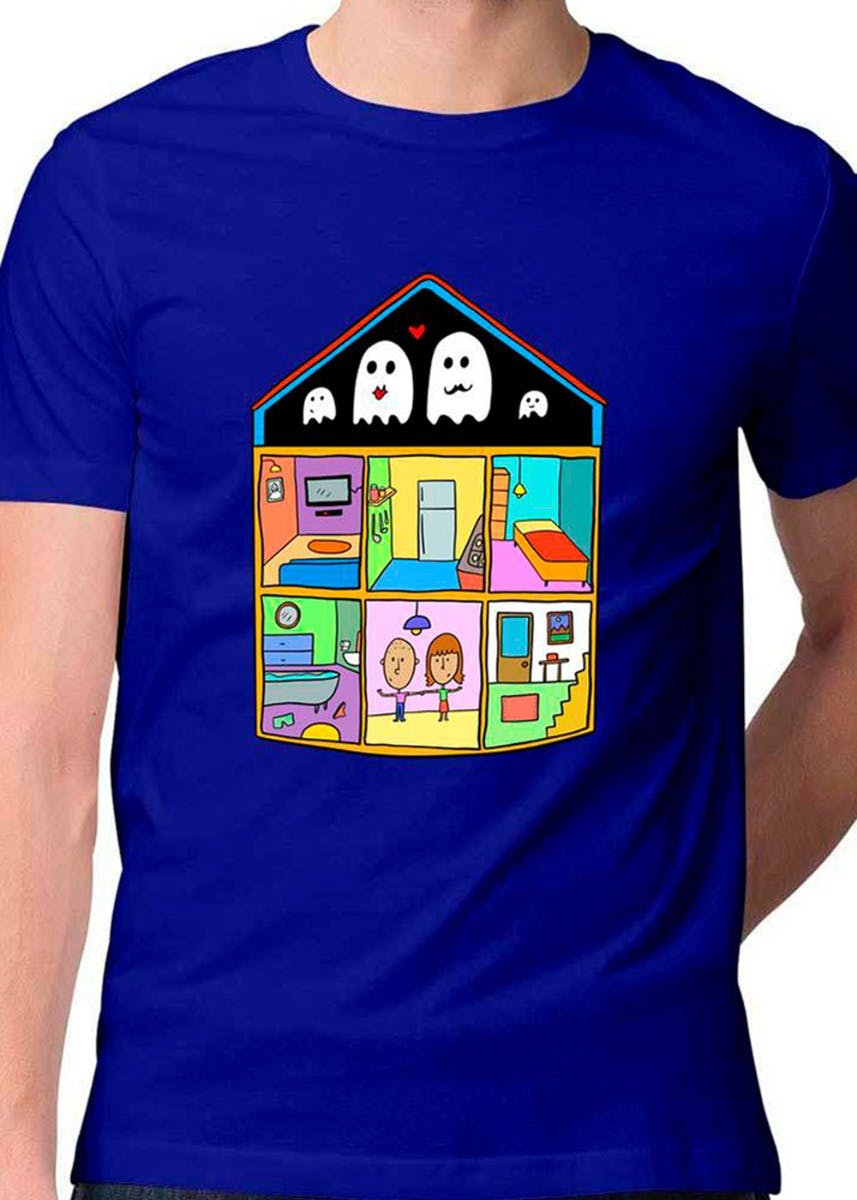 Ghost House Crew Neck T-Shirt