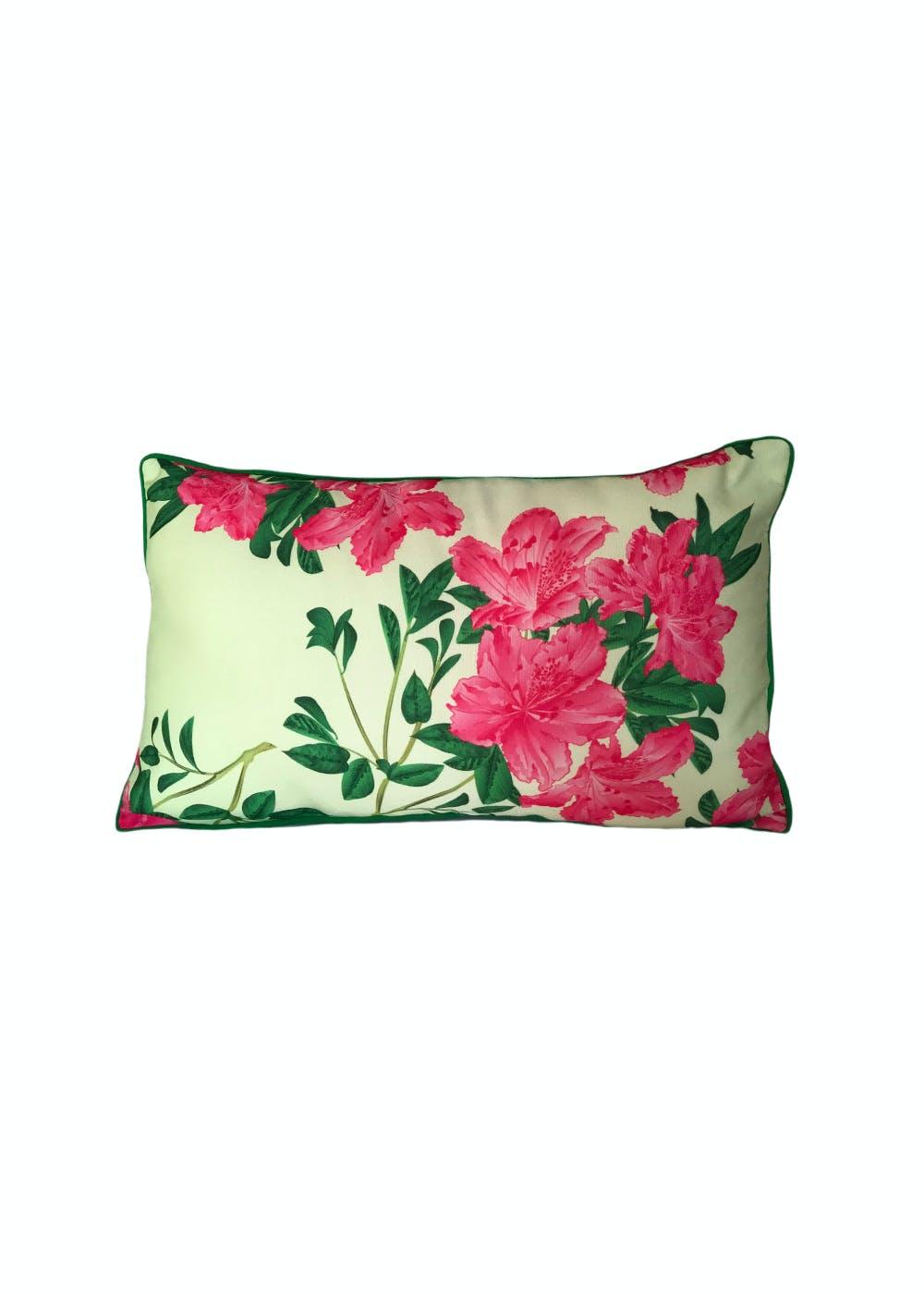 Guras Lumbar Pillow Cover Fuchsia - 12x21 inches