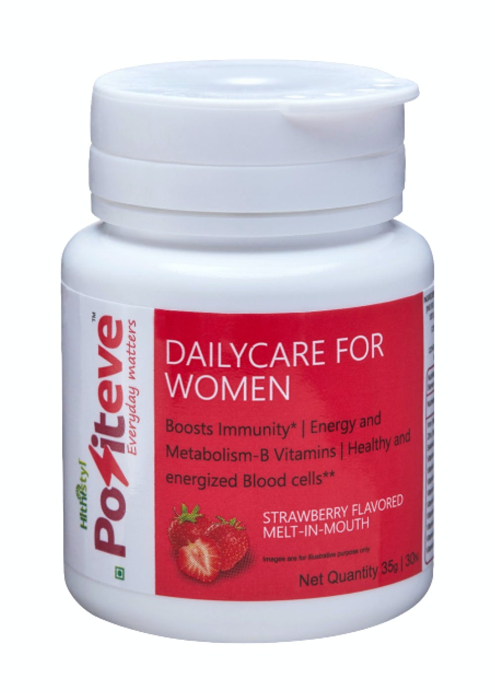 PositEVE Stay Active & Strong, All Day- Strawberry- Daily nutrition for Women