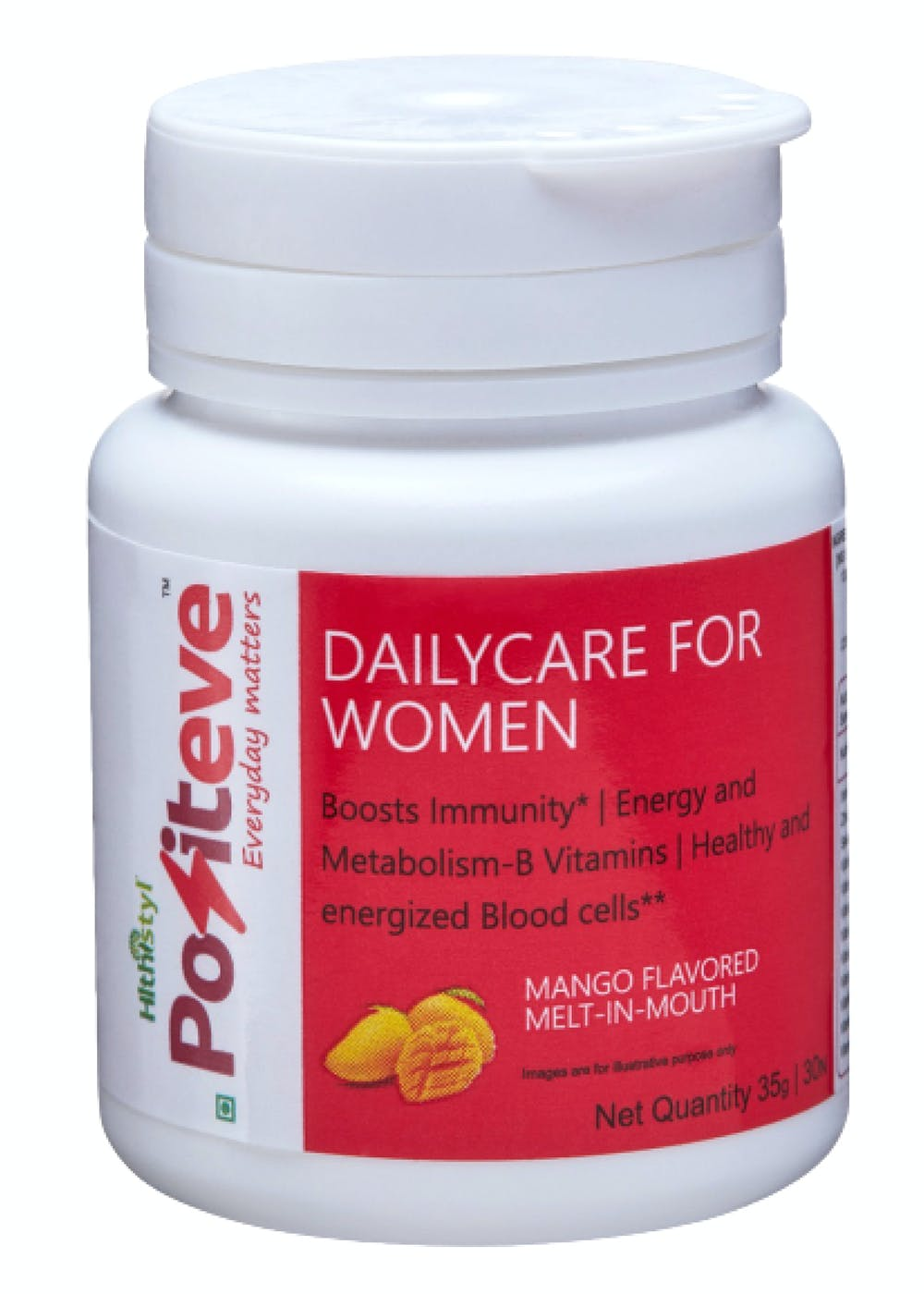 PositEVE Stay Active & Strong, All Day- Mango- Daily nutrition for Women