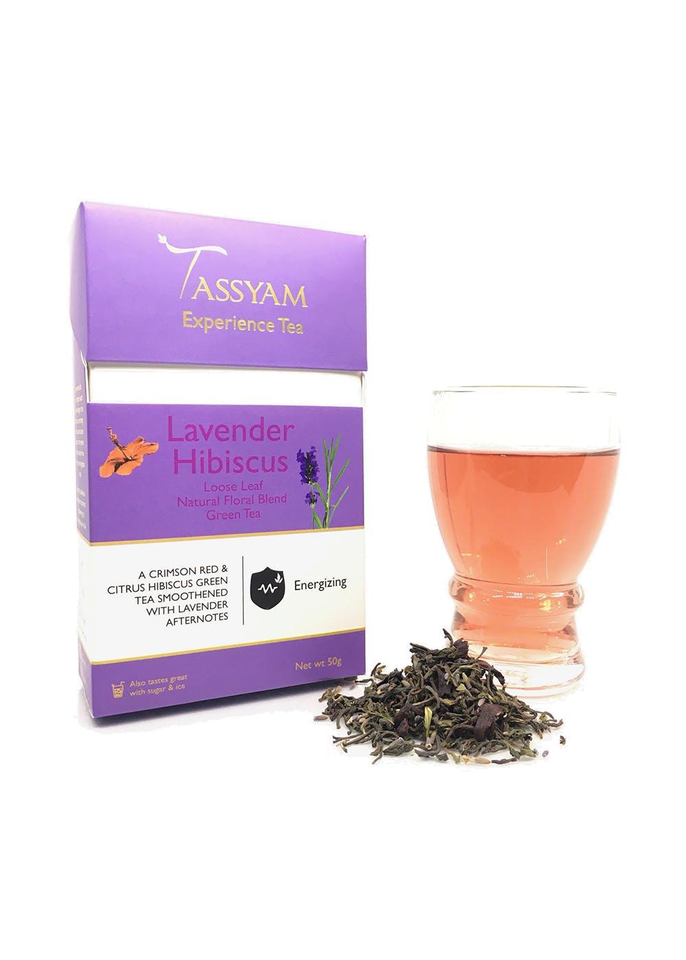 Lavender Hibiscus Green Tea Darjeeling 50 grams