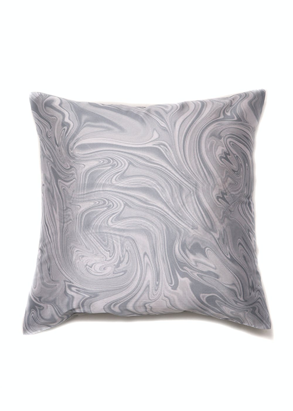 100% Polyester Grey Digital Print Cushion Cover (16X16 inches)