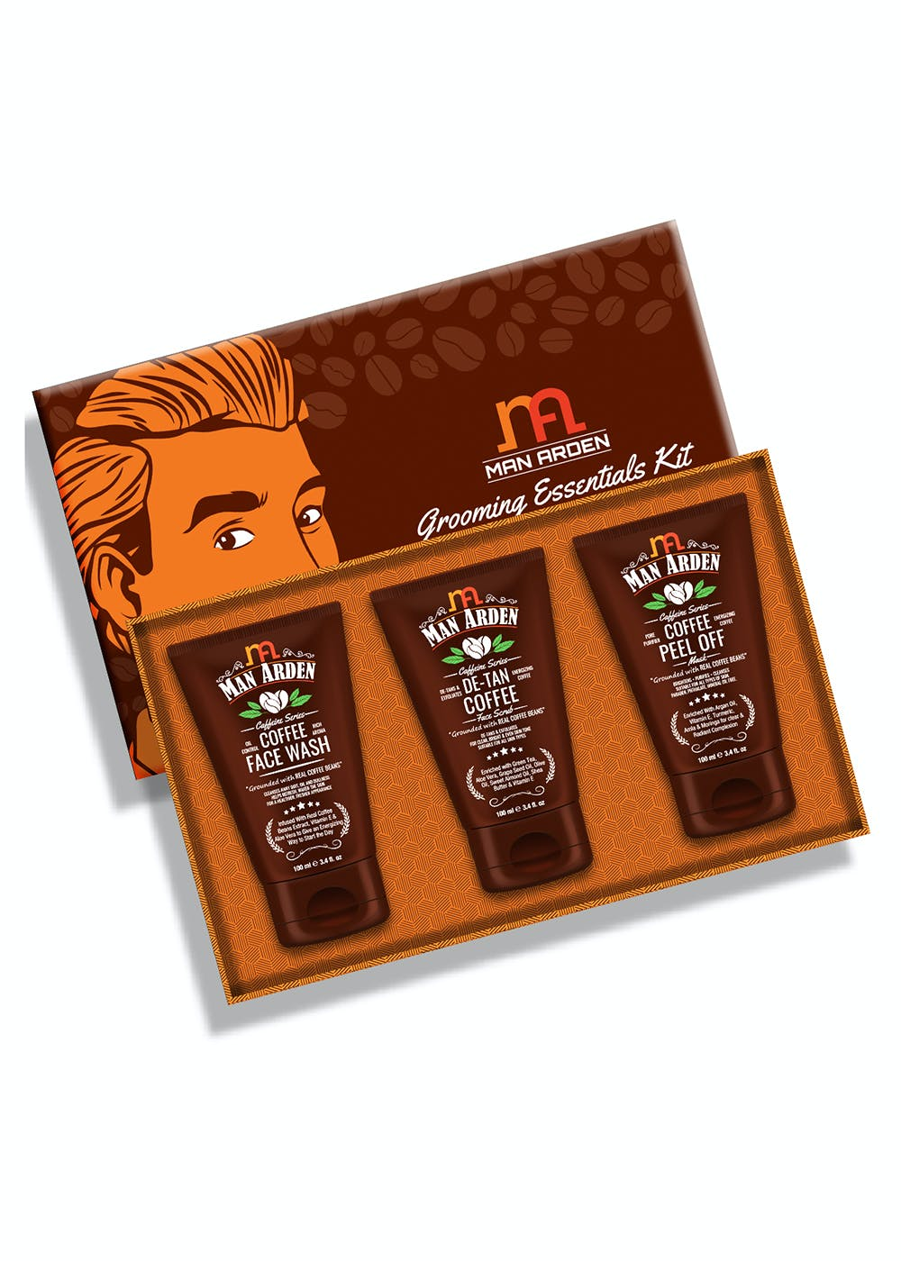 Coffee Skin Care Kit (Face Wash, Face Scrub, Peel Off Mask) - 100ml Each