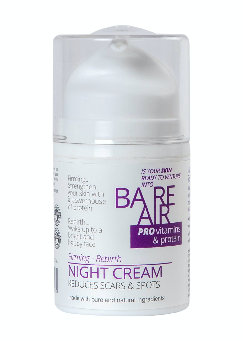 Night Cream With Hyaluronic Acid, Protein & Vitamins 50ml