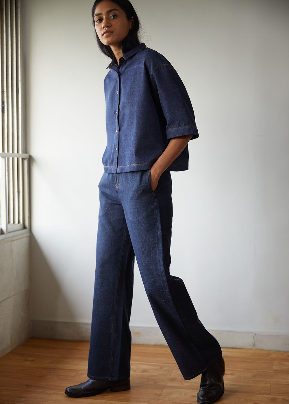 Wide Leg Recycled Denim Jeans