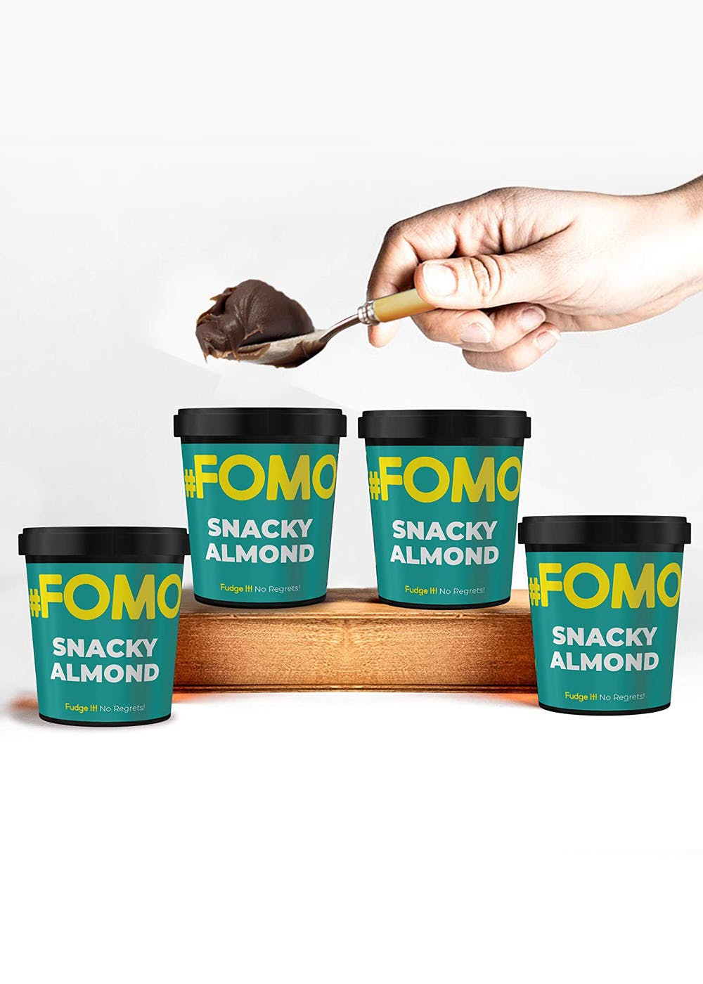 Snacky Almond Chocolate Fudge - Pack of 4 (100g Each)