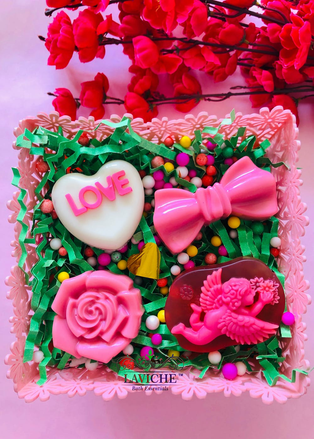 Pink Love Soap Combo