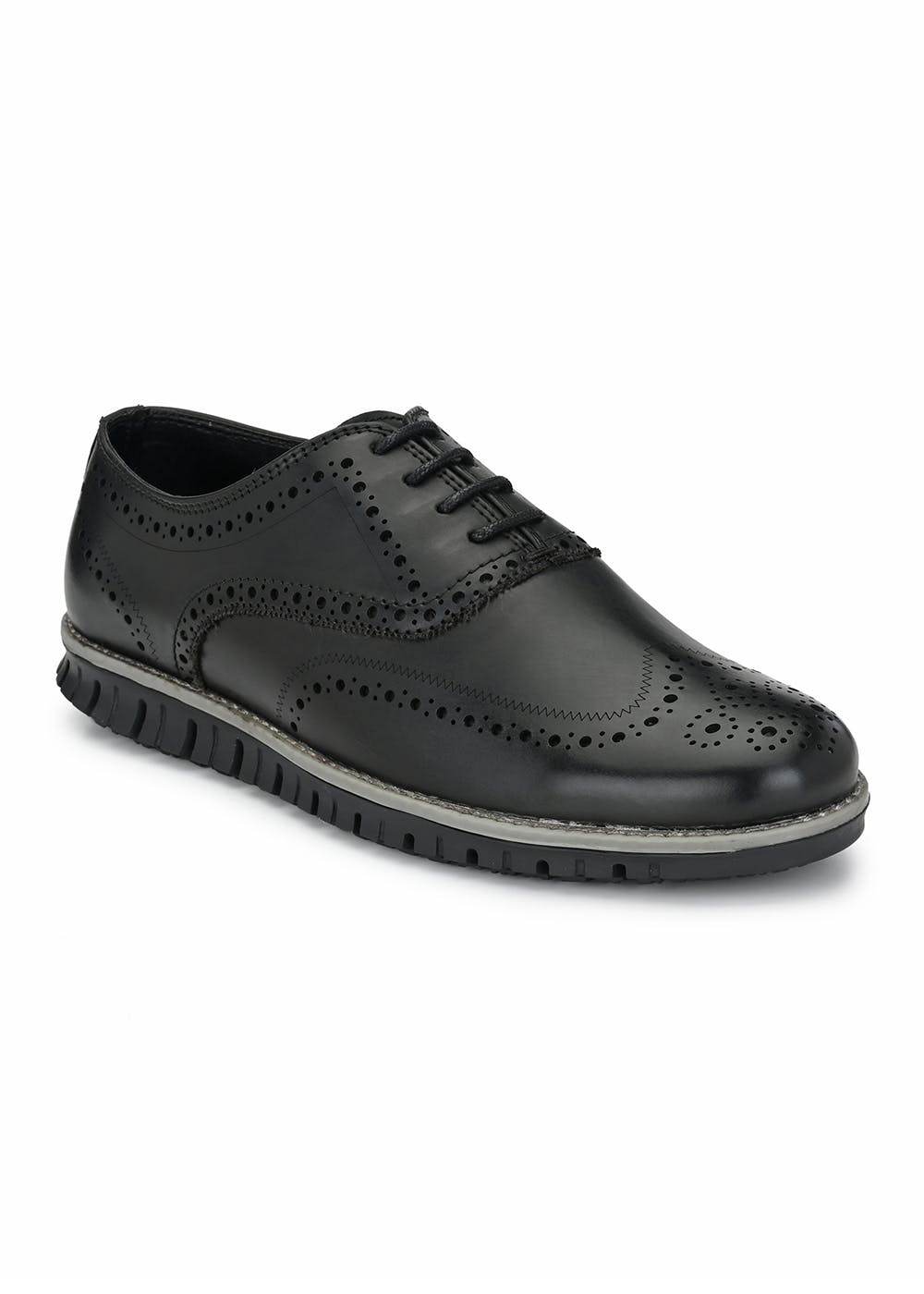 Perforated Pattern Detail Solid Casual Shoes