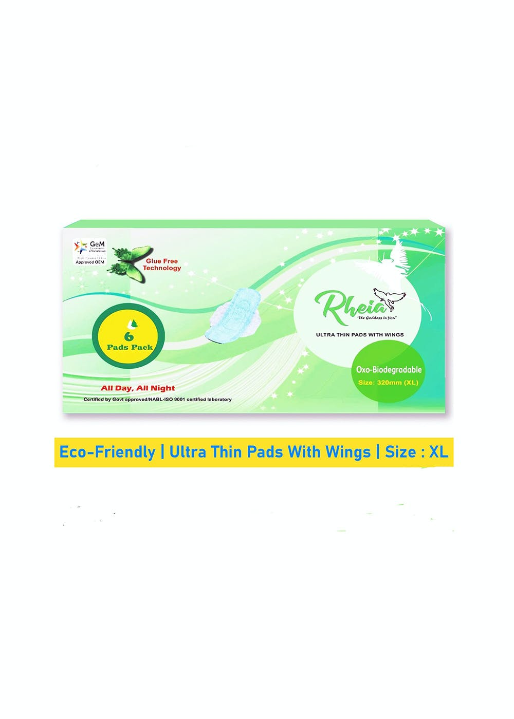36 Sanitary Napkin Pads in Pack of 6 - XL