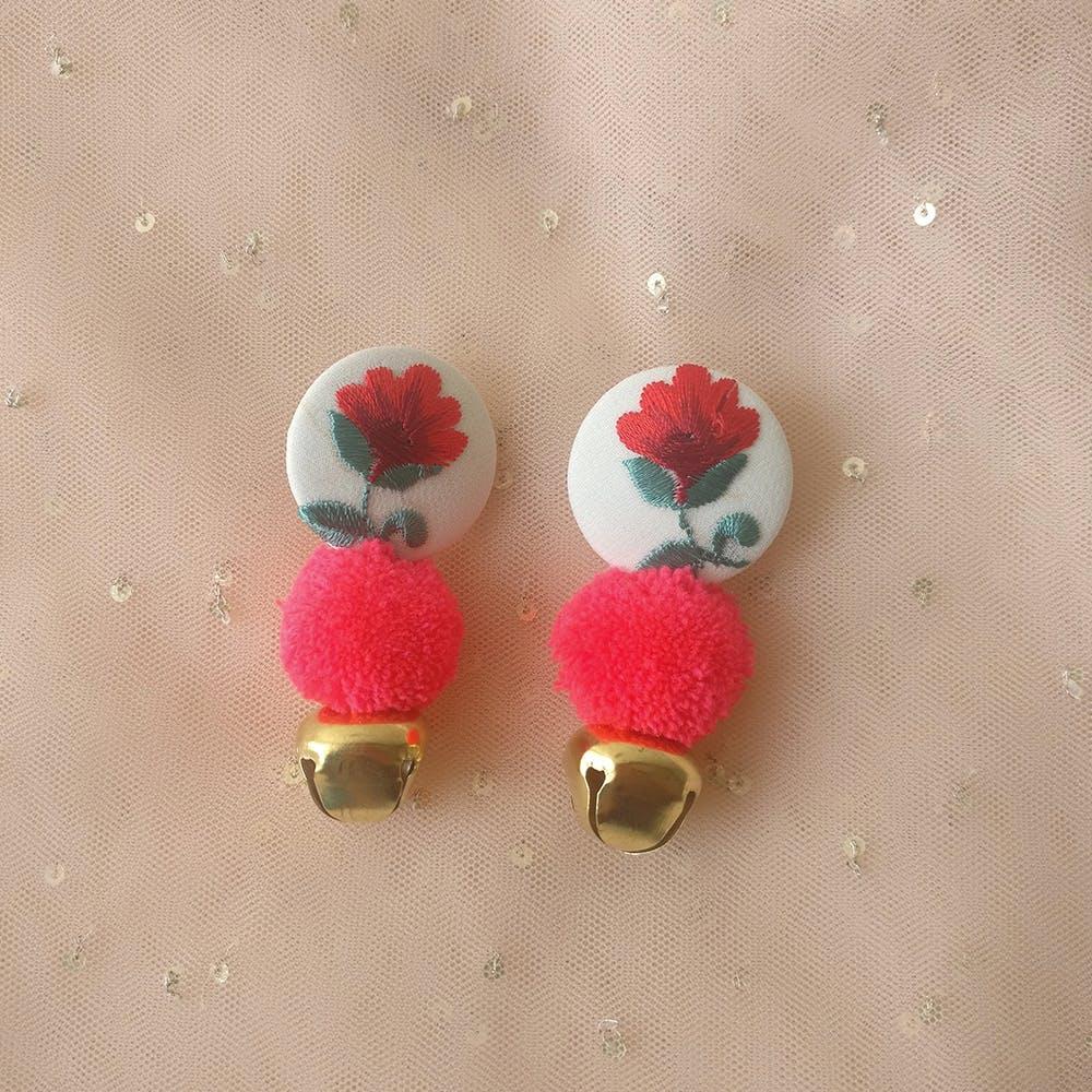 Flower Button Earrings