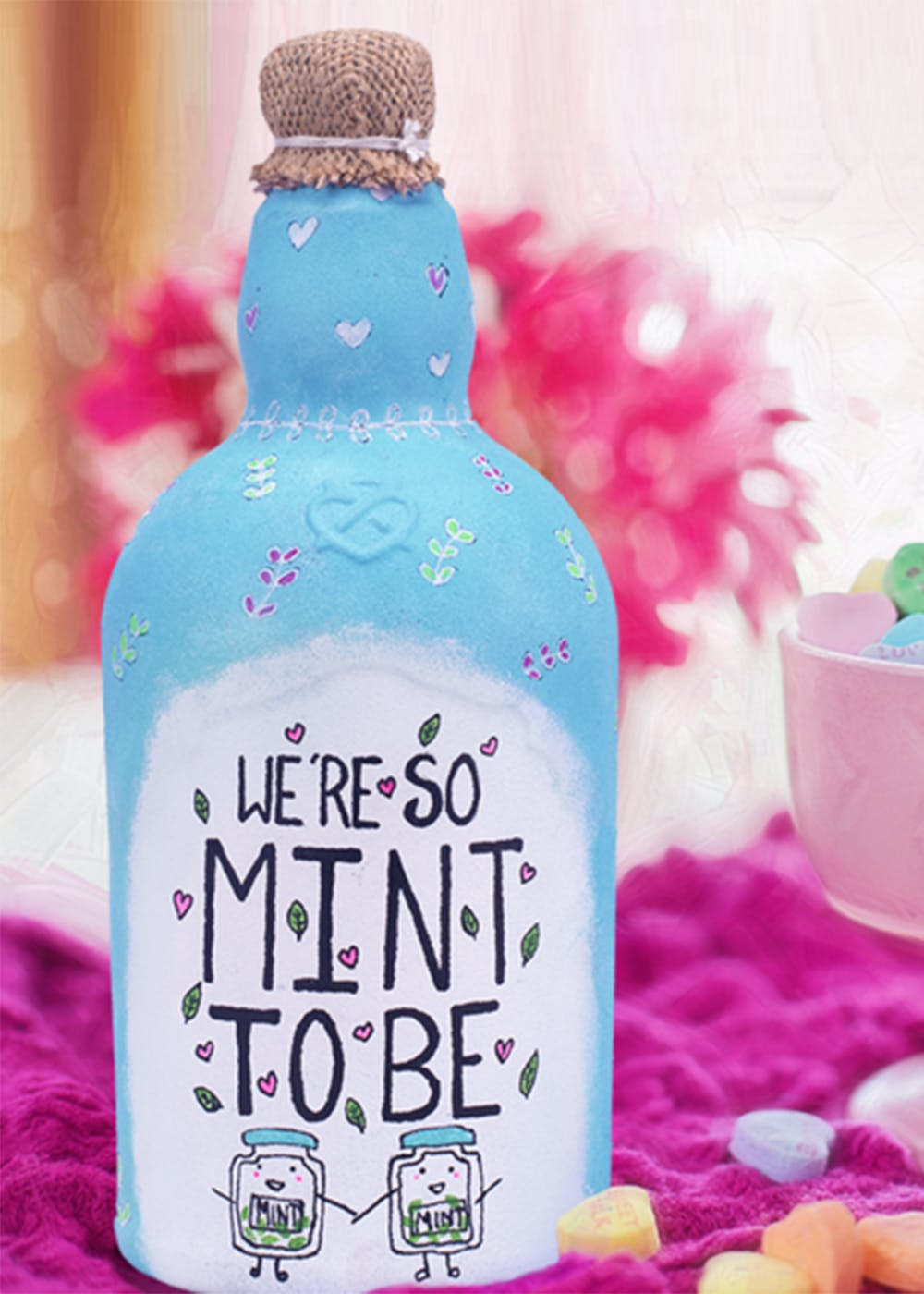 """""""We're So Mint To Be"""" Bottle Lamp"""